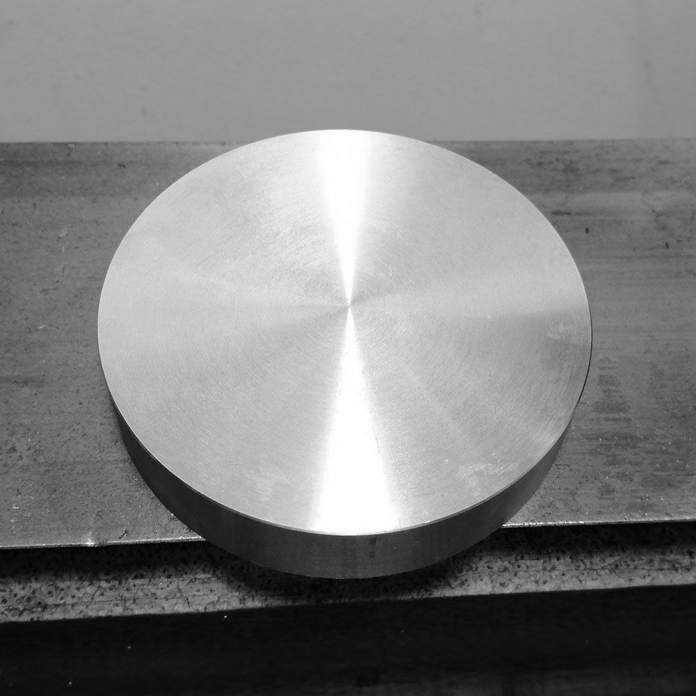 A solid billet of bronze, 15mmx70mm.