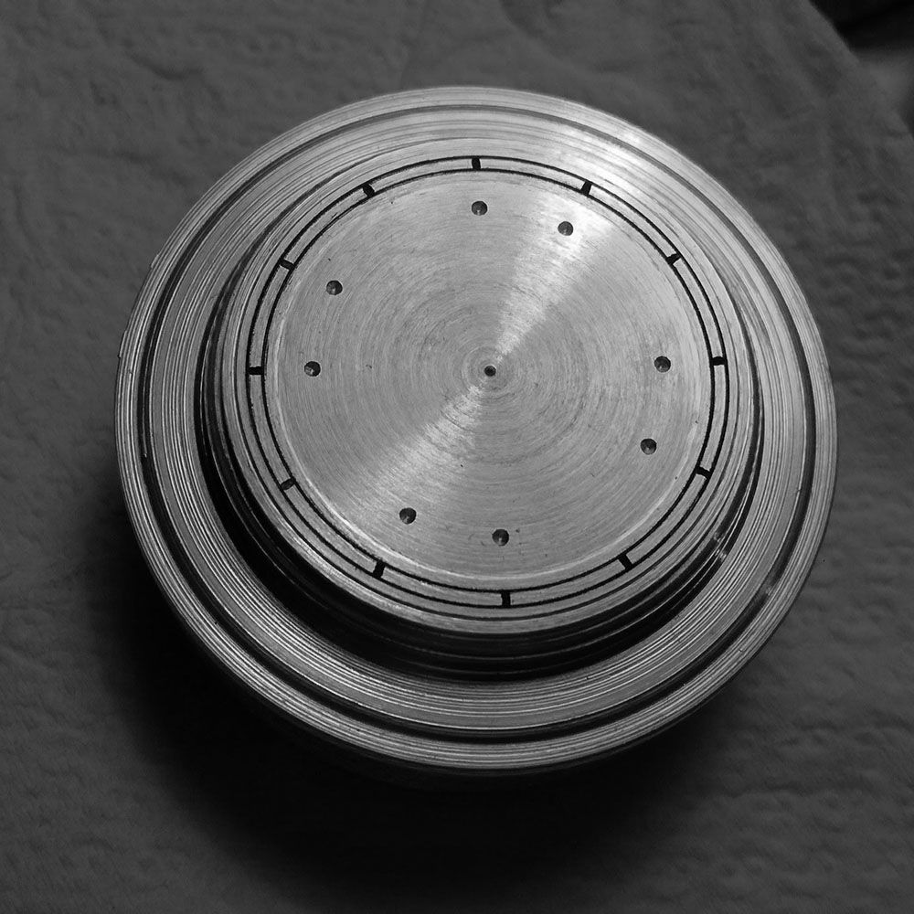 Semi finished dial.
