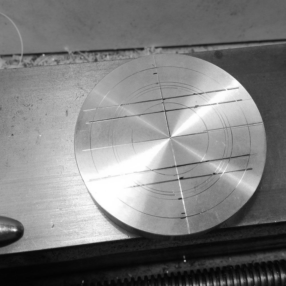 The billet is marked out an ready to be cut.