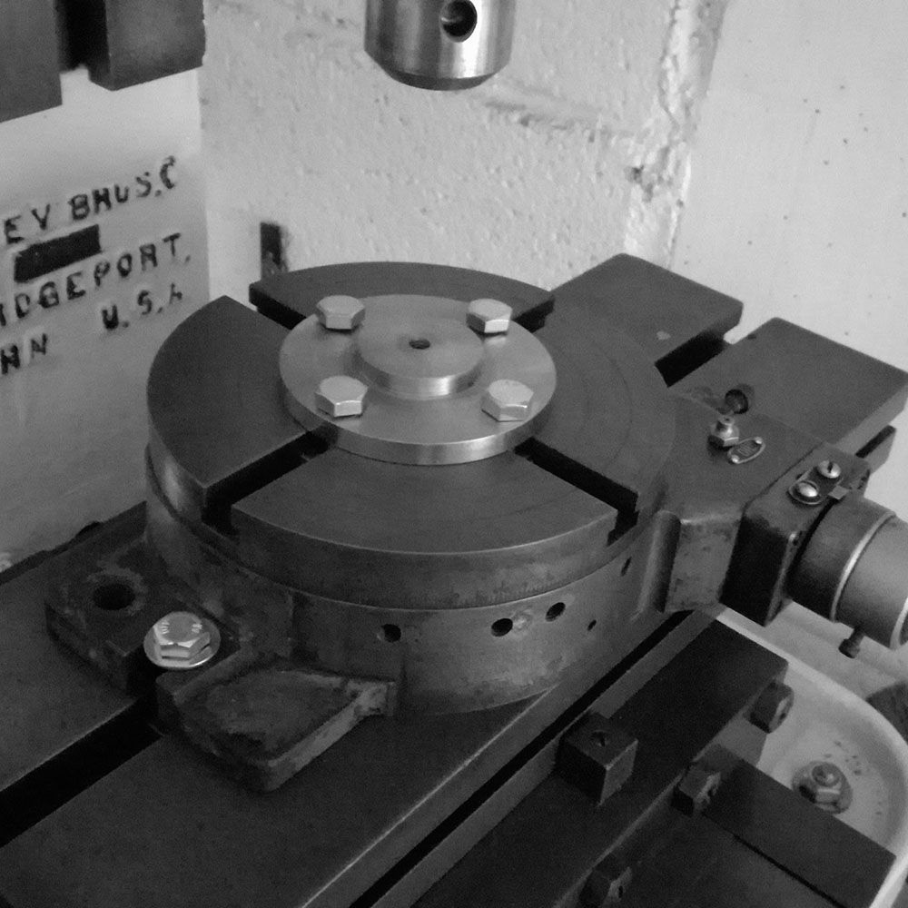 The rotary table where it will be fastened to.