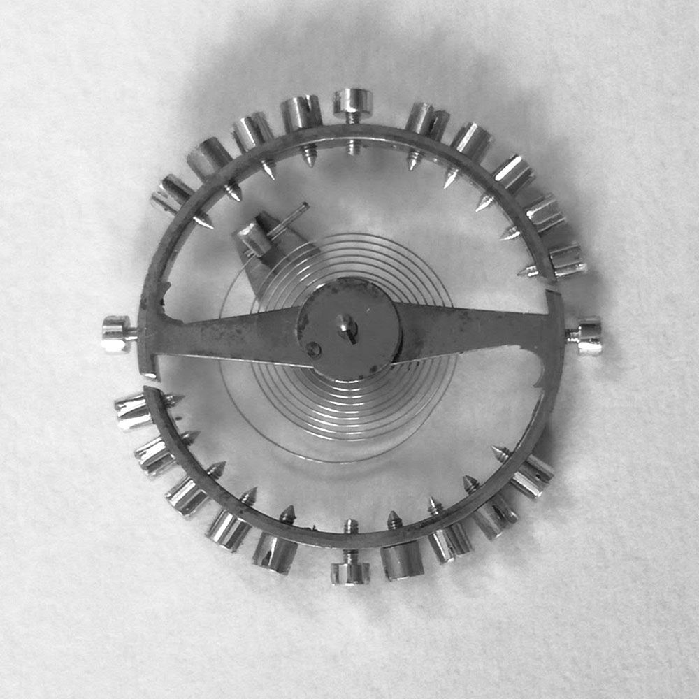 It is important to record where the position of the impulse jewel and hair spring stud are in order to have the watch beating correctly.